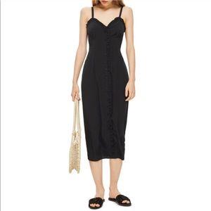 • Topshop Button Front Slip Dress •